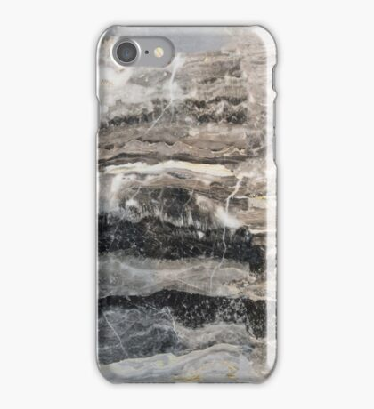 Marble Pattern Layers Shades of Gray iPhone Case/Skin