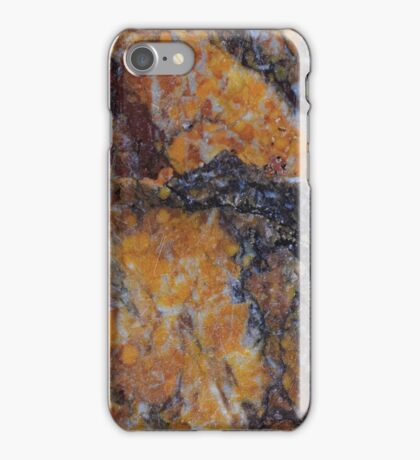 Burnt Orange Rust Marble Pattern iPhone Case/Skin