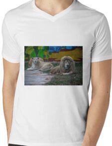 Lions  Mens V-Neck T-Shirt
