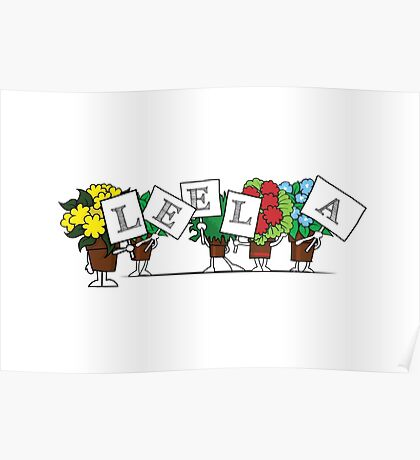 Plant Poses - Leela Poster