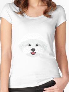 Bichon Frise Women's Fitted Scoop T-Shirt