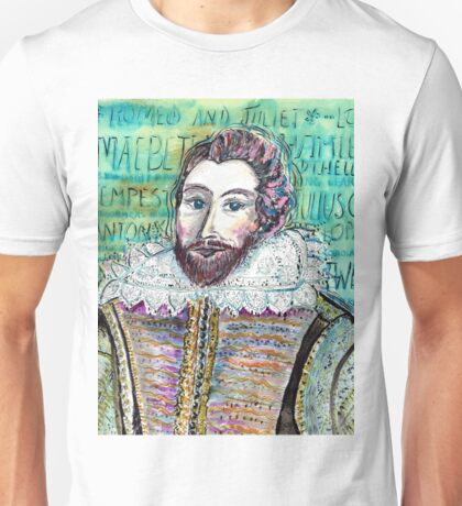 William Shakespeare--Master Playwright Unisex T-Shirt