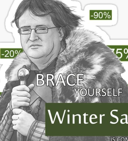 winter is comming Sticker