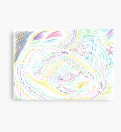 Abstract Colourful Twin Girl Canvas Print
