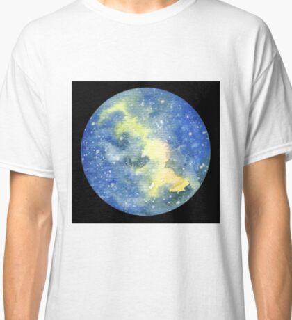 Galaxy Moon Green - Original Art Classic T-Shirt