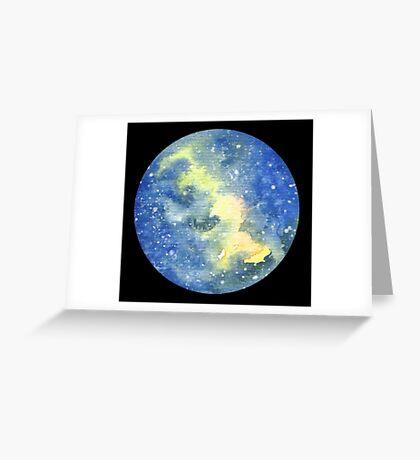 Galaxy Moon - Original Art Greeting Card