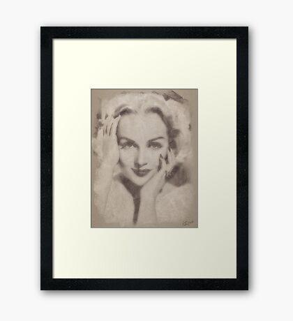Carole Lombard, Vintage Hollywood Actress Framed Print