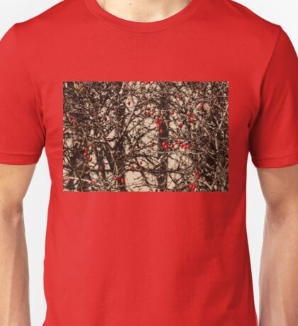 Thorny Patterns - Jewel Toned Berries by the Fence Unisex T-Shirt