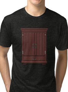 Glitch furniture tallcabinet mahogany wood tall cabinet Tri-blend T-Shirt