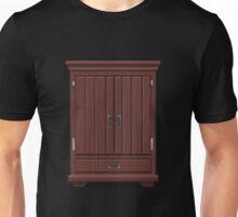 Glitch furniture tallcabinet mahogany wood tall cabinet Unisex T-Shirt