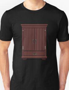 Glitch furniture tallcabinet mahogany wood tall cabinet T-Shirt