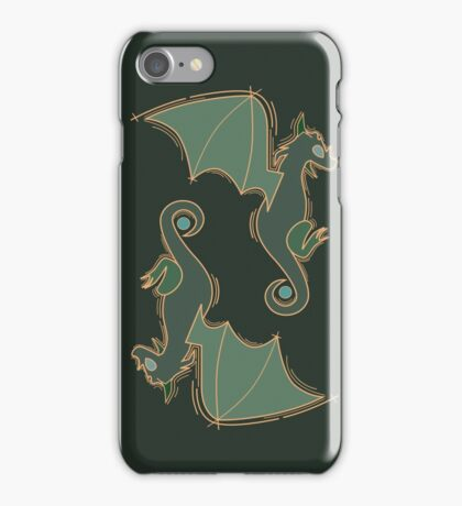 Olive Green Dragons  iPhone Case/Skin