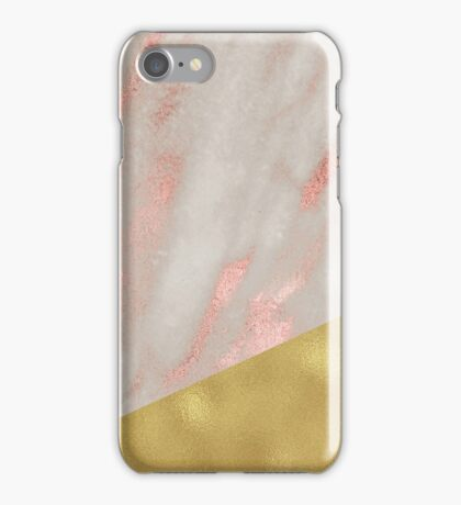 Rose gold marble - gilt iPhone Case/Skin