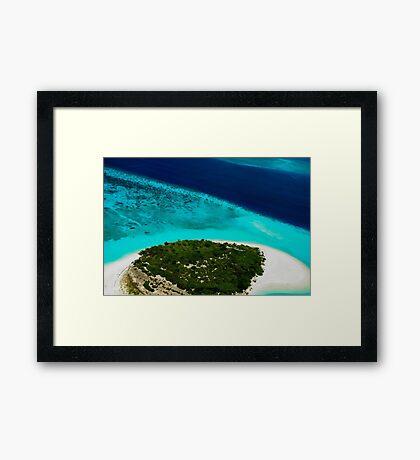 Deserted Coral Island. Maldives  Framed Print