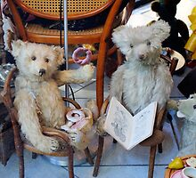 Group Of Antique Teddy Bears by Mythos57