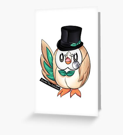 Rowlet The Fabulous Greeting Card