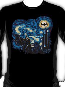 Dark Blue Starry Knight Abstract T-Shirt