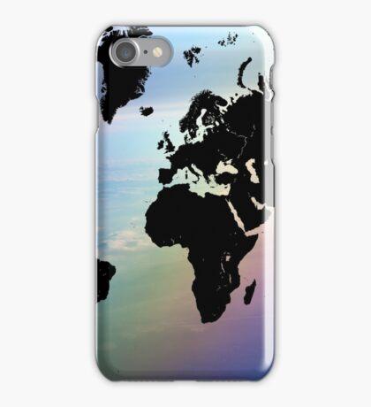 Rainbow Ocean World Map iPhone Case/Skin
