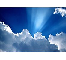 Beautiful Clouds and Blue Sky Photographic Print