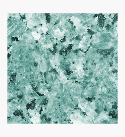 Real Marble Texture - Irish Green Sea Marble Photographic Print