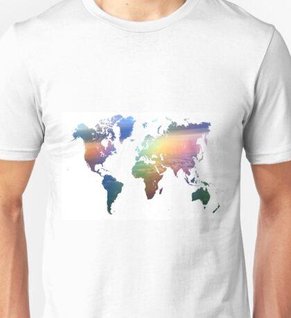 Rainbow Ocean World Map Unisex T-Shirt
