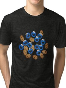 pattern Cookie Monster Tri-blend T-Shirt
