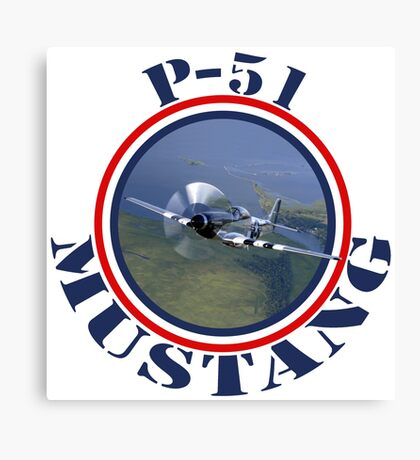 Mustang Fighter Canvas Print