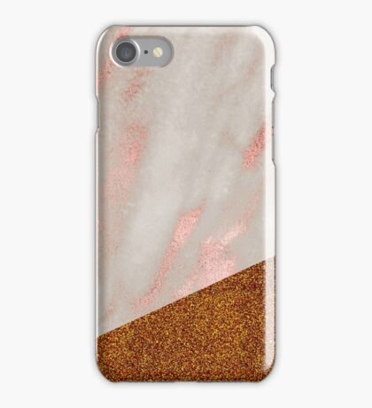 Rose gold marble - bronze ages iPhone Case/Skin