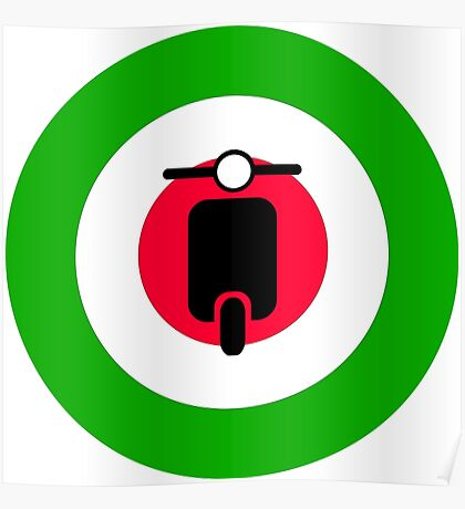 Scooter target - Mods Italy Poster