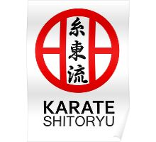 Shitoryu Karate Symbol and Kanji Poster