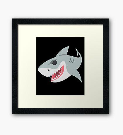 Shark Graphic Design Illustration Framed Print