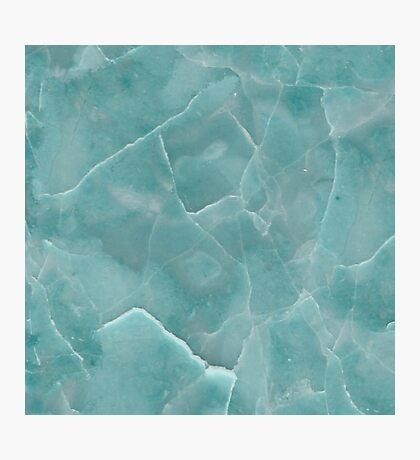 Marble Pattern - Cracked Lake Aqua Blue Marble Photographic Print