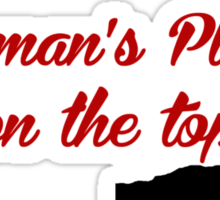 Rock Climbing A Woman's Place Is On The Top Sticker