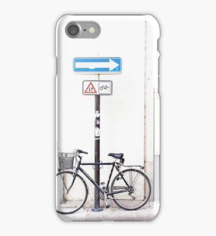 Bike and road sign iPhone Case/Skin