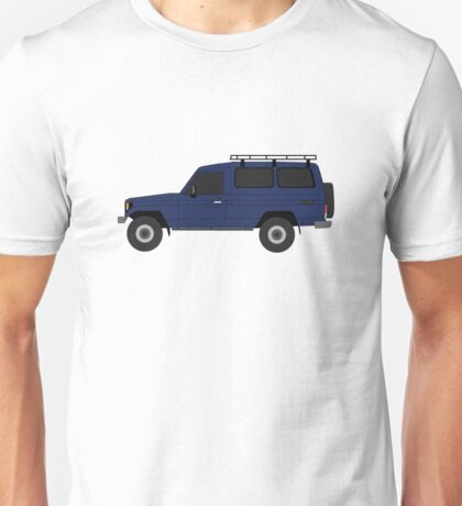 TOYOTA Land Cruiser HZJ75 with Roof Rack (machito) Unisex T-Shirt