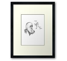 Darwin's thought.. Framed Print