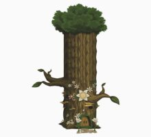 Glitch furniture tower chassis tree tower One Piece - Short Sleeve