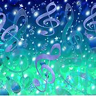Blue Music Bubbles Design by Sookiesooker