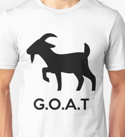 G.O.A.T - Greatest Of All Time (Goat Silhouette) Funny Goat Shirts Unisex T-Shirt