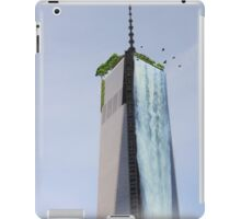 waterfall from building iPad Case/Skin