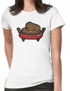 Jean-Luc Poopcard Womens Fitted T-Shirt