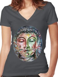 Inner Tranquility Women's Fitted V-Neck T-Shirt