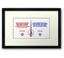 The Jedi and Sith Code Framed Print
