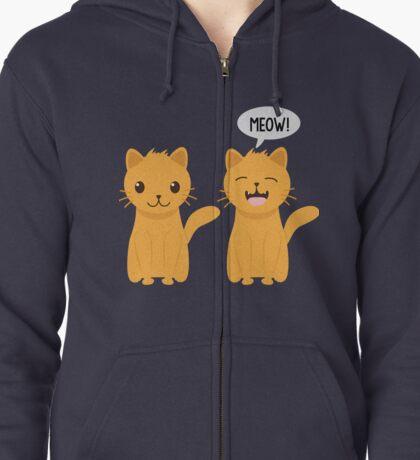 Meow! Zipped Hoodie