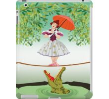 Cute halloween The crocodile girl Deadly circus iPad Case/Skin