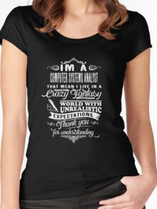 Computer Systems Analyst Women's Fitted Scoop T-Shirt