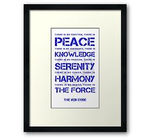 The Jedi Code Framed Print