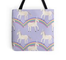 Unicorn Pattern on Pastel Purple Tote Bag