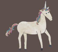 Unicorn Pattern on Pastel Purple Baby Tee