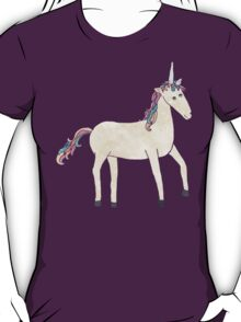 Unicorn Pattern on Pastel Purple T-Shirt